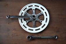 Vintage 1980s Thun Chrome Crank Set Single Chainset Cottered 170mm 46T Bashguard
