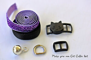 Details About Diy Cat Collar Hardware Kit 2 Styles To Choose From