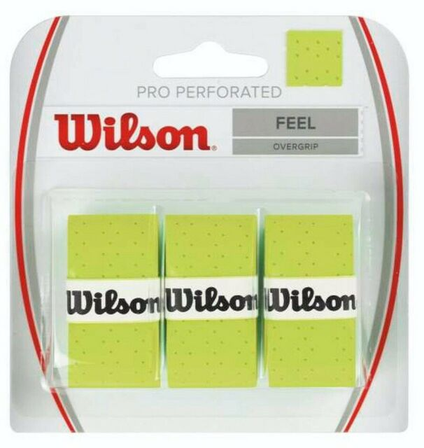 Wilson Pro Perforated Feel OverGrips Tennis Badminton Racquet OverGrip Grips