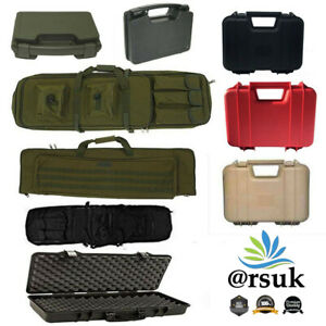 Gun-Case-Rifle-Pistol-Military-Tactical-Shooting-Plastic-Hunting-Carry-Strap-Bag