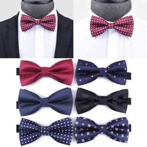 Homme-Bow-Tie-Cravates-Haute-Qualite-Classique-Mariage-Formal-reglable-20-Styles