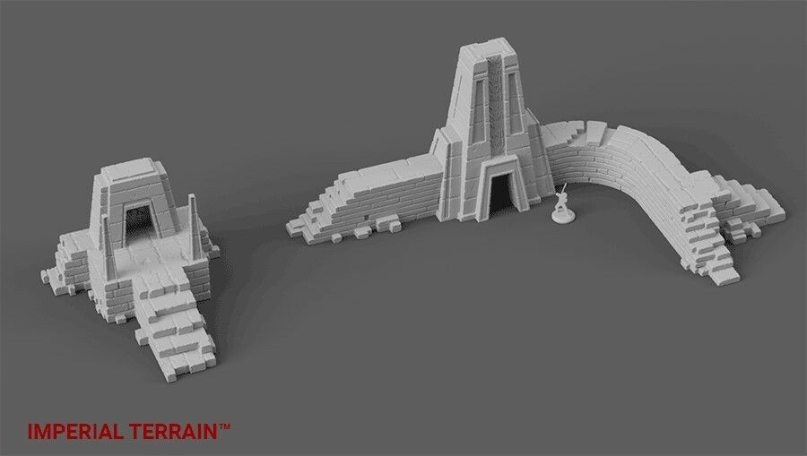 Star Wars Legion, Warhammer 40k, Age of Sigmar Terrain - Ruined Temple Set
