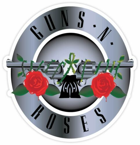 j Guns n Roses sticker for skateboard luggage laptop tumblers car
