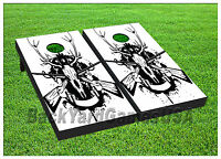 Hunting Rifles Cornhole Beanbag Toss Game W Bags Game Board Deer White Set 631