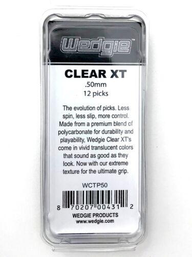 Wedgie Clear XT Guitar PicksTextured.50 mmBlue12 pcs