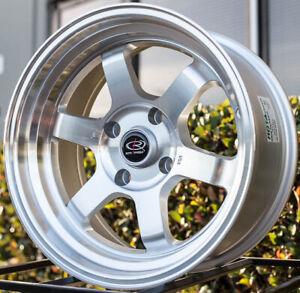 15X8-ROTA-GRID-V-4X100-0-SILVER-WHEEL-FIT-BMW-E30-XB-CIVIC-SI-JDM-INTEGRA-MIATA