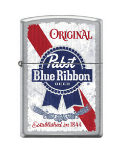 Zippo-1163-Pabst-Blue-Ribbon-Beer-Street-Chrome-Finish-Lighter-Color-Image