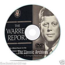 The Full Warren Commission Report, 26 Volumes, Who Killed JFK?, on PDF DVD F09