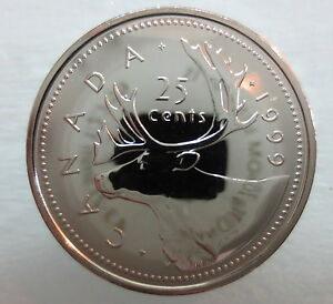 1999-CANADA-25-CENTS-PROOF-LIKE-QUARTER-COIN