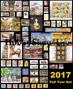 Ukraine-2017-Annee-Complete-Full-Set-of-Ukrainian-timbres-blocs-standard-livret
