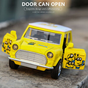 Metal-Toys-Sound-light-Open-Door-Mini-Car-Pull-Back-Car-Minious-Classic-Model-GG