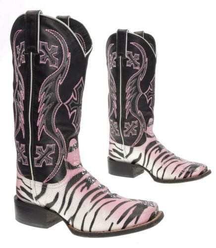 NOCONA Cowboy Boots 6.5 B Womens EXOTIC Faux Sting