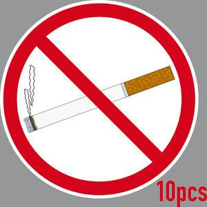 10-Autocollant-15cm-Sticker-non-Fumeur-non-Fumeurs-Ne-Warn-Bouclier