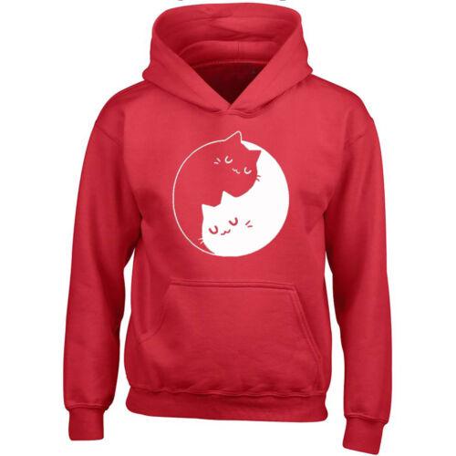 Yin Yang Cats Kittens Unisex HOODIE Sweet Cat Kitty Unisex Hoodie Sweatshirt Swe
