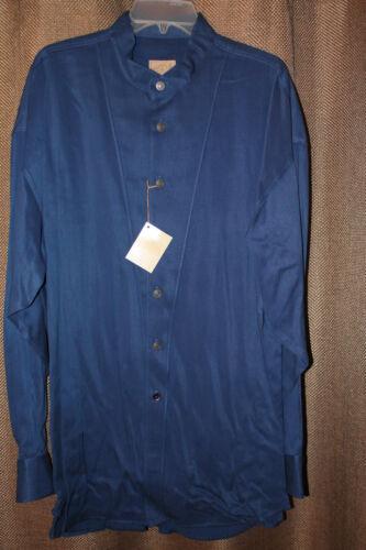 Mens Stubbs Blue Stonewash Long Sleeve Western Shirt star Metal Buttons Size L