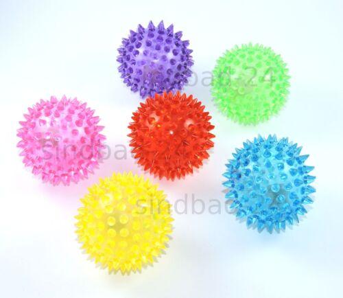 Spielzeug für draußen 6x Massageball,Igelball,Noppenball,Springball LED Licht,Geschenk Party Mitgebsel
