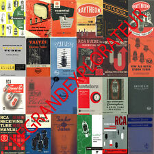 Ultimate 300 Vacuum Tube Valve Audio Radio Reference Book Manual s on DVD