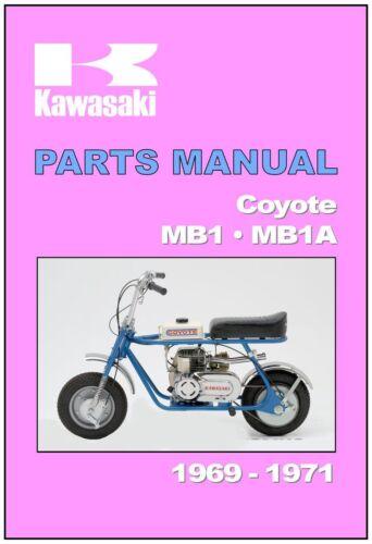 KAWASAKI Parts Manual MB1 MB-1 MB-1A Coyote 1969 1970 /& 1971 Spares Catalog List