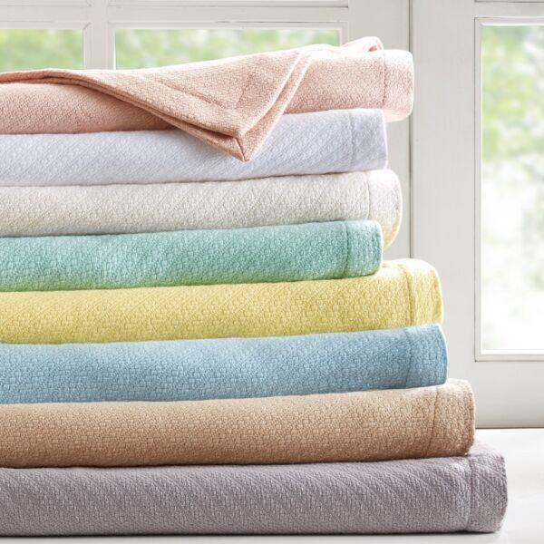 100% Cotton Woven Cozy Knit Full / Queen Or King Blanket : Luxury All Seasons Met Traditionele Methoden