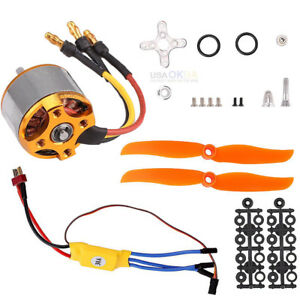 2200KV-Brushless-Motor-2212-6-30A-ESC-Mount-Assembly-for-RC-helicopter-Airplane