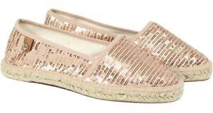 classic fit on wholesale 100% authentic Details zu TAMARIS Espadrilles Slipper Sommer-Schuhe Rosa/Pailletten Gr 38  - 39 - 40 NEU