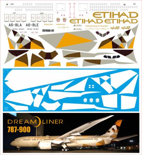 BOEING 787-900 ETIHAD NEW ZVEZDA 1//144 PAS-DECALS
