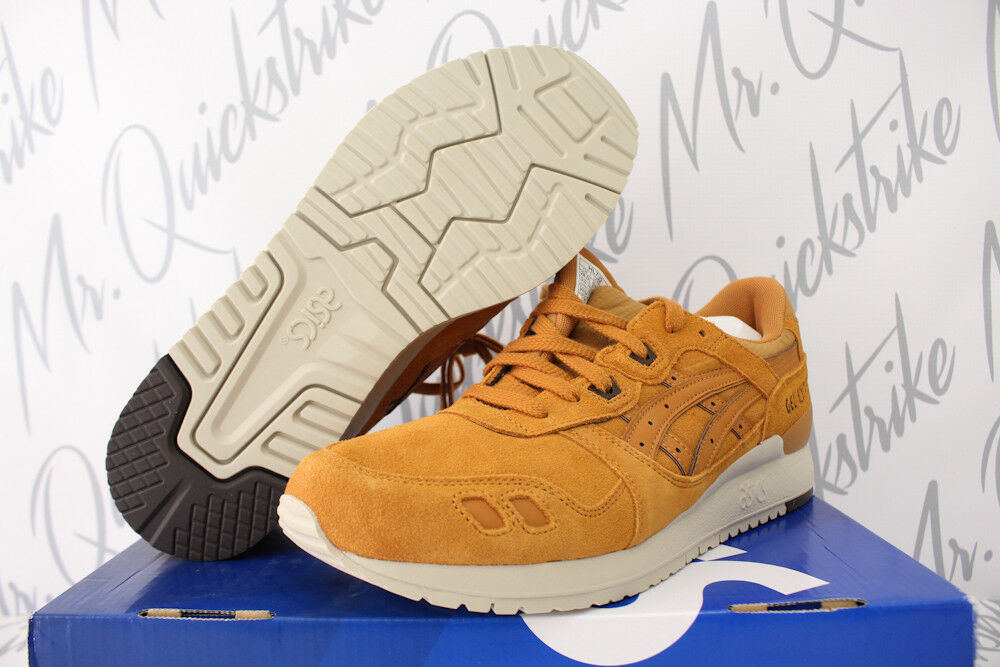 ASICS GEL LYTE III 3 SZ 10 HONEY GINGER SUEDE OFF WHITE HL7U2.3131