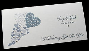 personalised wedding day money voucher gift card wallet envelope ebay