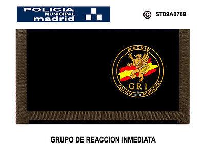 MONEDEROS POLICIALES POLICIA MUNICIPAL DE MADRID GRUPO DE REACCION INMEDIATA