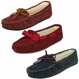 Hausschuhe Damenschuhe Angemessen Ladies K's By Clarks Moccasin Slippers Wake Me Moderater Preis