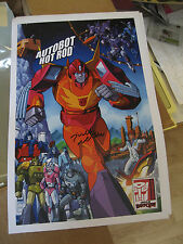 "2016 Transformers BotCon G1 Hot Rod Autograph by Judd Nelson 17""x11"" Print Exclv"