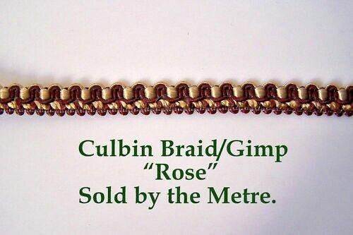 """/""""rose/"""" 10mm vendus au mètre Red // gold rembourrage GIMP // tresse pour tous les métiers."""