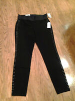 Sco. Women's With Tag Pull On Leggins Metallic Beads Black $54 Retail M