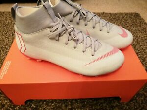 NUOVO-CON-SCATOLA-NIKE-MERCURIAL-JR-SUPERFLY-6-ACCADEMIA-GS-FG-MG-AH7337-060-Grigio-Rosso-UK-4
