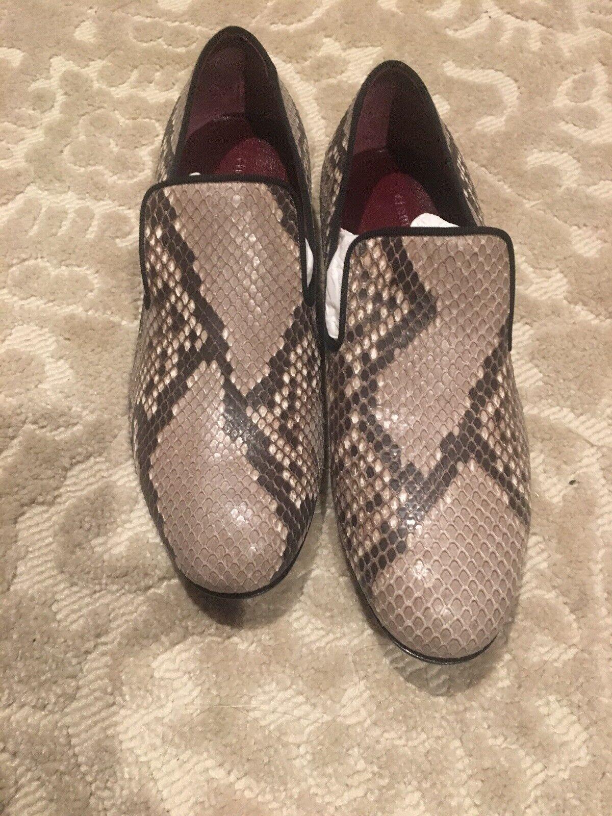CELINE Paris Snake Skin Loafers - Storlek 6.5 US   36.5 EU - Ny ruta