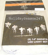 Portable Battery Operated 6 14in LED Lighted Ghost Light Set Halloween Decor
