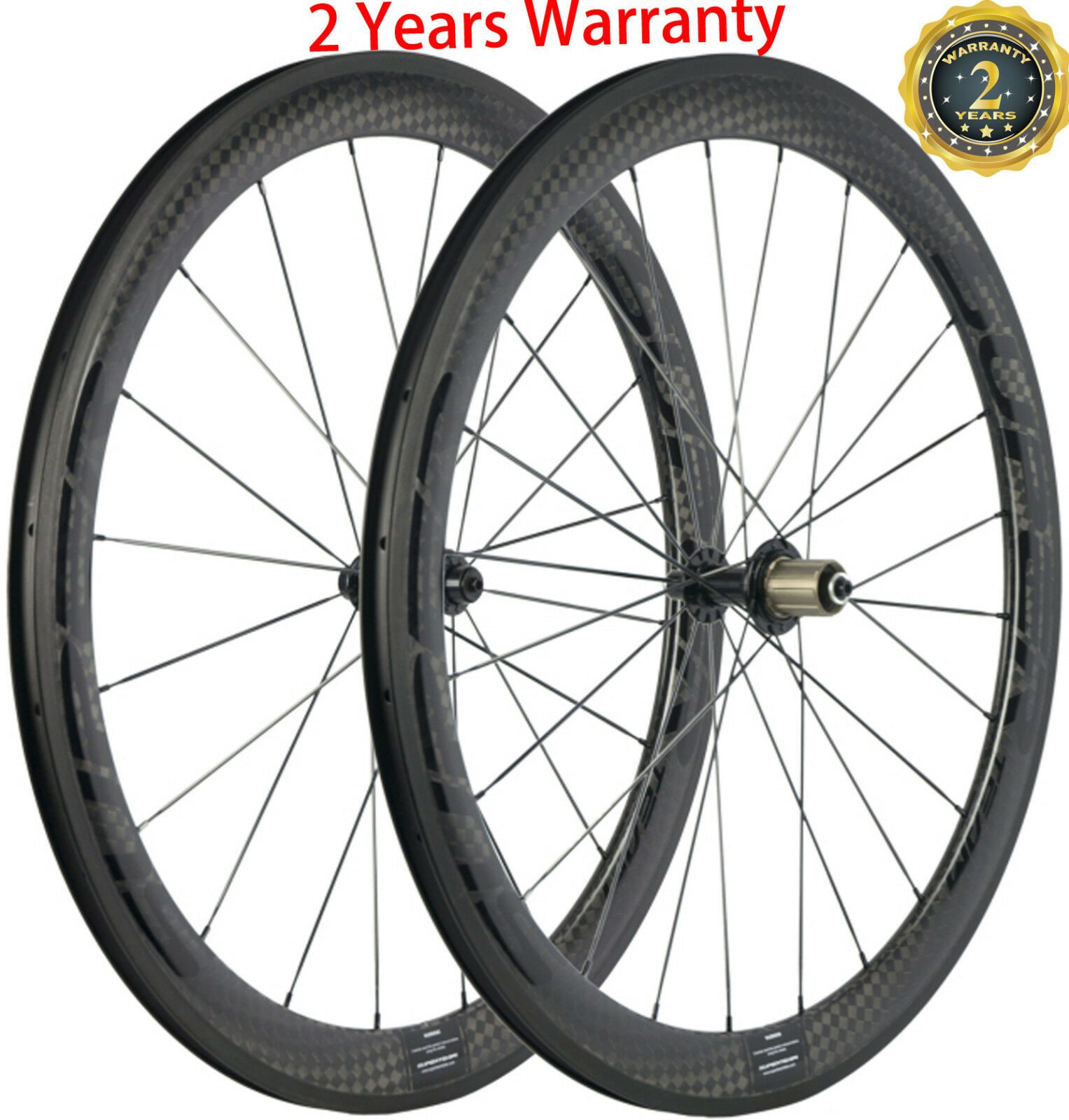 Full Carbon Fiber Wheels 25mm U Shape Wheelset 50mm Bicycle 12k Ceramic Bearing