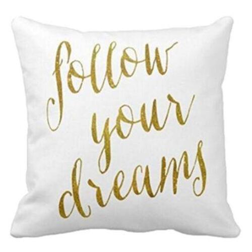 Vintage Cotton Linen Pillows Case Sofa Car Waist Throw Cushion Cover Home Decor