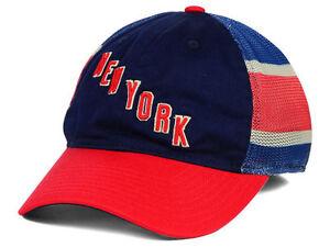 1cd0c3470f6 New York Rangers Reebok NHL Jersey Hook Mesh Flex-Fit Cap Hat - Size ...