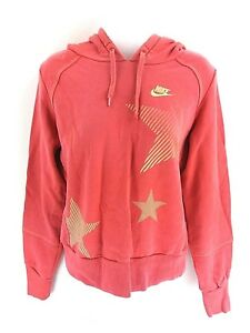 NIKE-Womens-Hoodie-Jumper-S-Small-Pink-Cotton