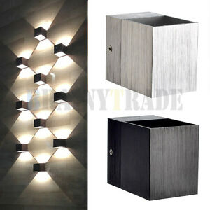 Image Is Loading 3W LED Square Wall Lamp Hall Porch Walkway
