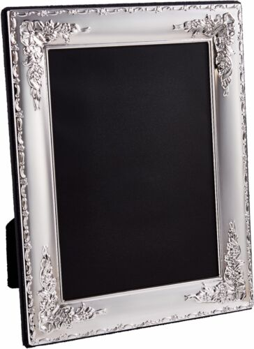 Sterling Silver Floral Pattern Photo Frame 7 x 5 inches 18cm x 13cm