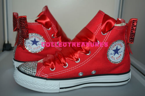 3 Uk Boda 9 Custom 8 Bling 6 Tamaño Red Diamante Party Crystal 7 4 5 Converse CxzwFqpzBn