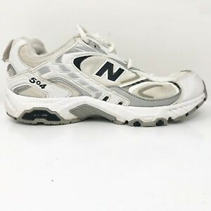 New Balance Womens 504 CWX504L7 White Blue Running Shoes Lace Up ...