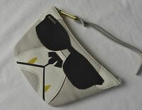 Fossil Dog Applique Leather Coin Purse Pouch