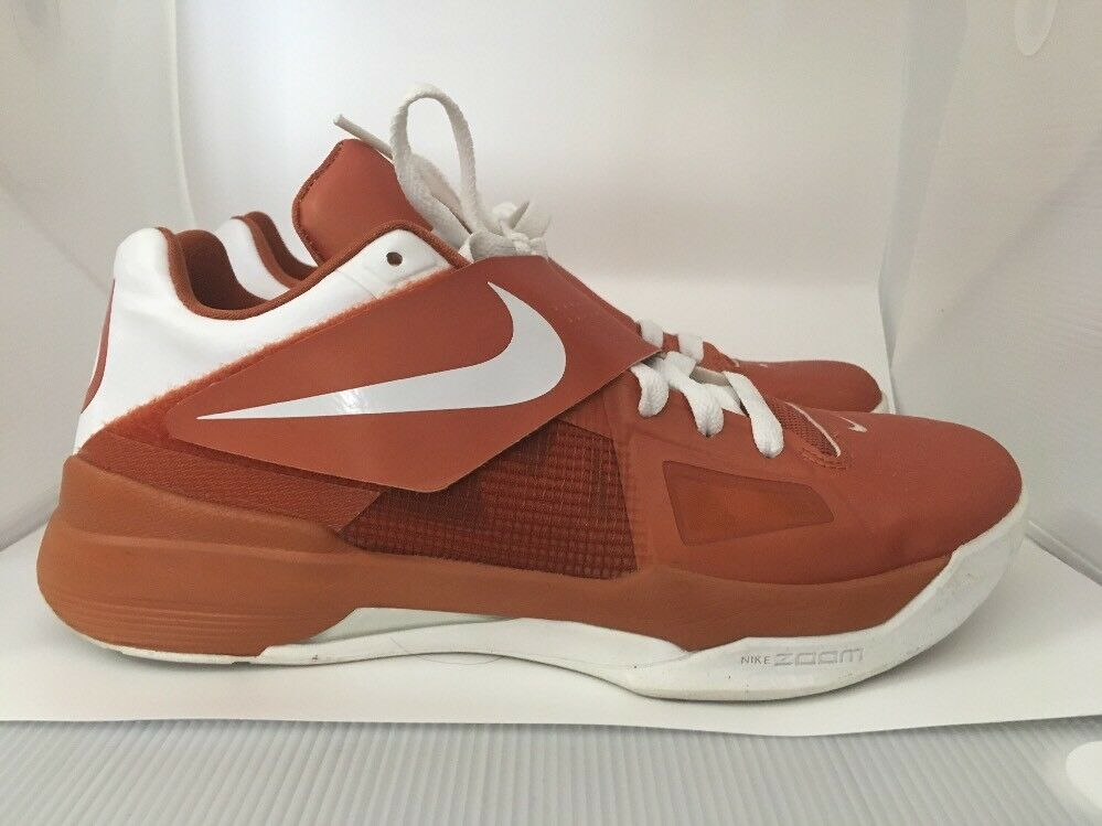Rare 2012 Zoom KD IV 4 TEXAS sz 10 LONGHORNS 473679-801 Burnt Orange UT