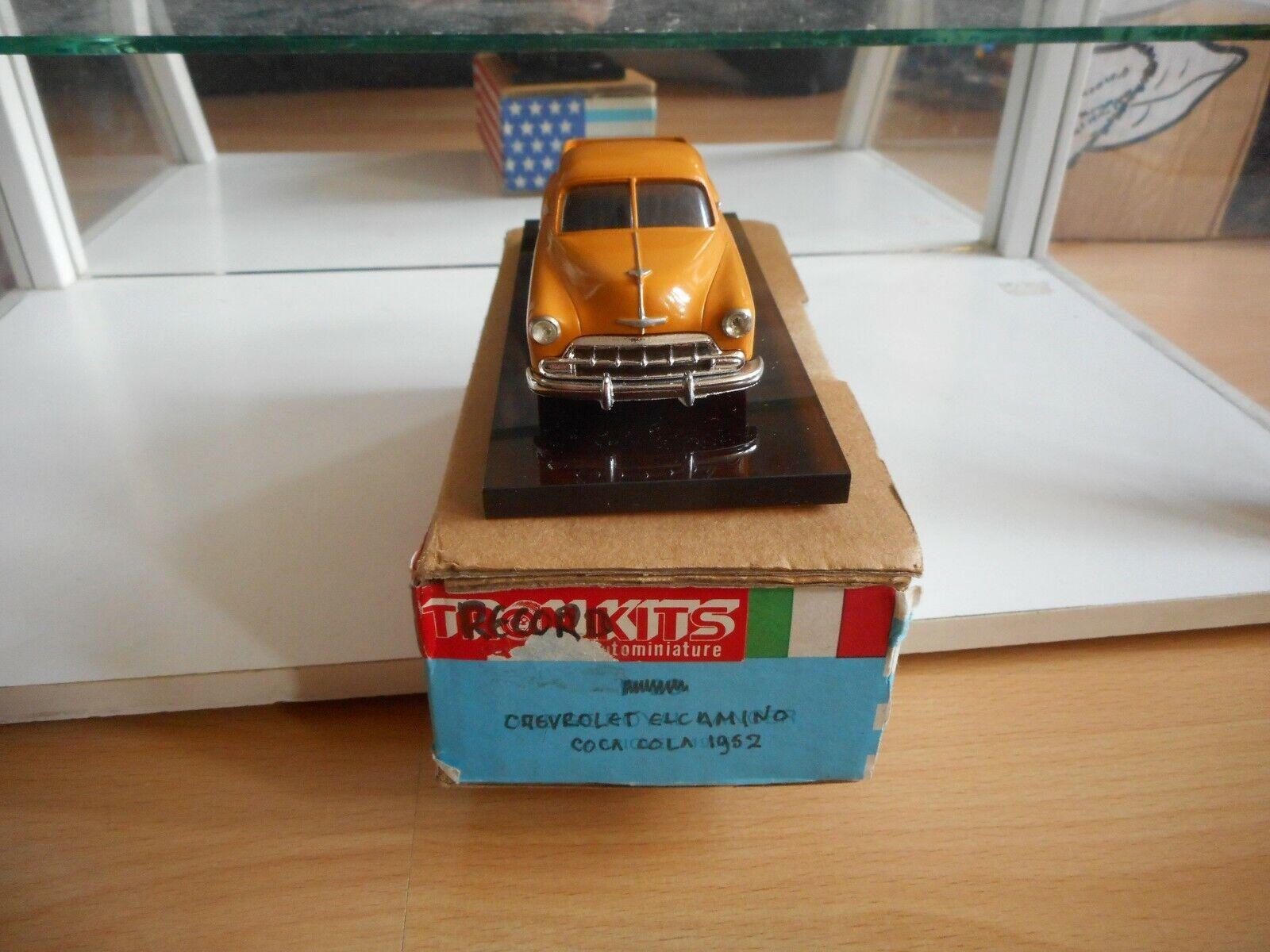 Record Kits Chevrolet El Camino 1952 COca Cola in Orange on 1 43 in Box
