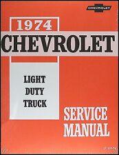 1974 chevy truck shop manual pickup blazer suburban van chevrolet repair  service