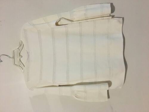 August Taglia crema seta Camicetta in donna in per maglione S lunghe a maniche Nwt a 70tag lunghe maniche BB4ZP