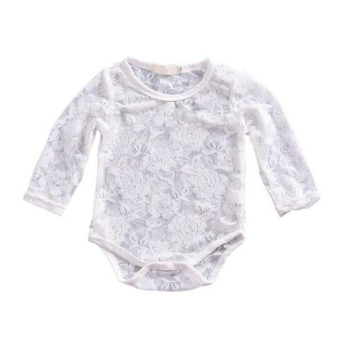 Newborn Infant Baby Girls Clothes Jumpsuit Bodysuit Lace Floral Romper Outfits